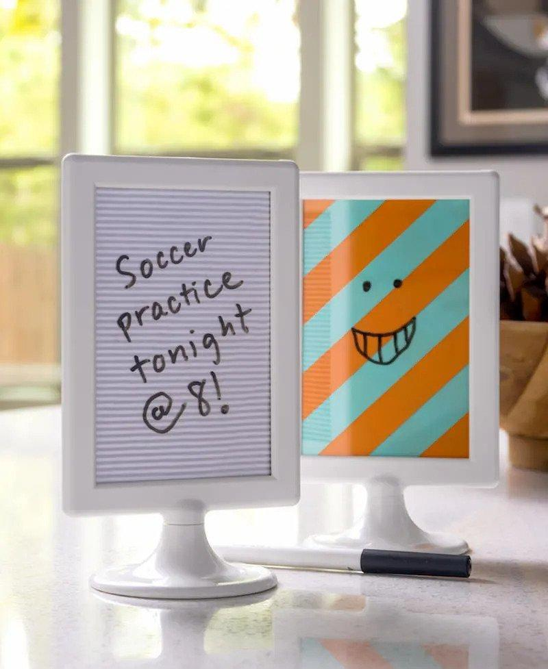 2. Mini DIY Dry Erase Board Made In Minutes