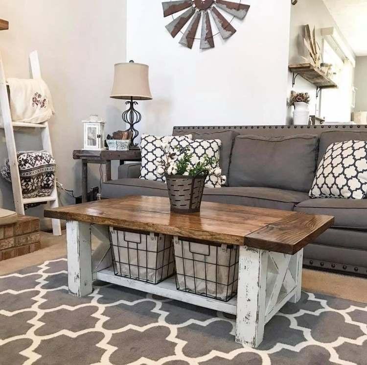 20. DIY Farmhouse Coffee Table