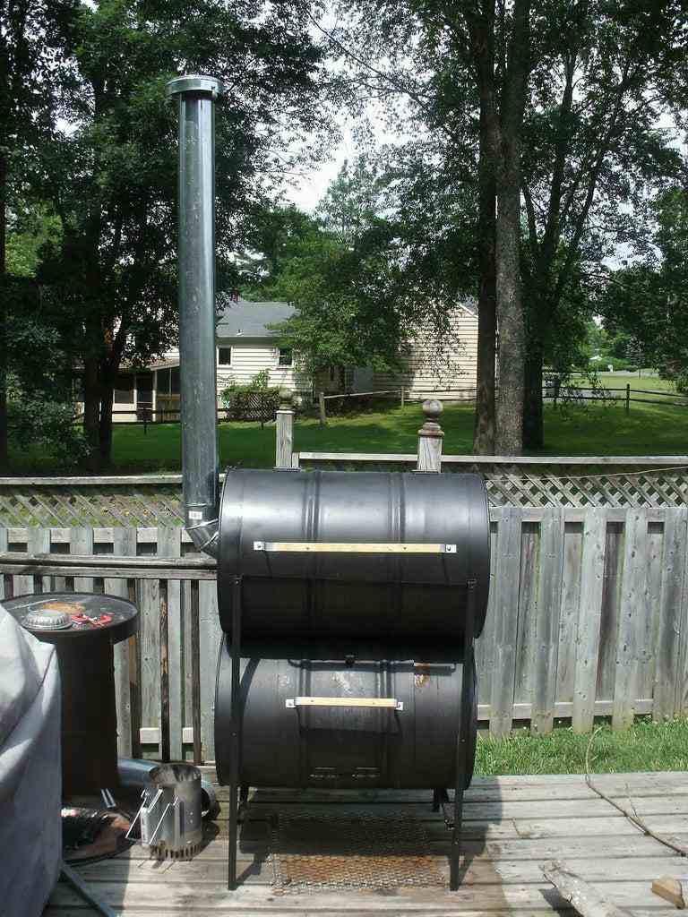 20. DIY No-Weld Double Barrel Smoker