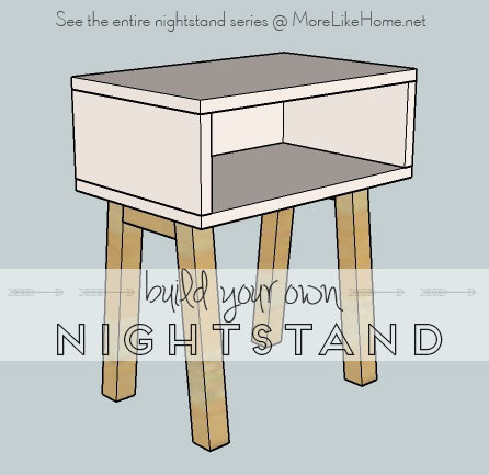 20. Simple And Modern Nightstand Plan