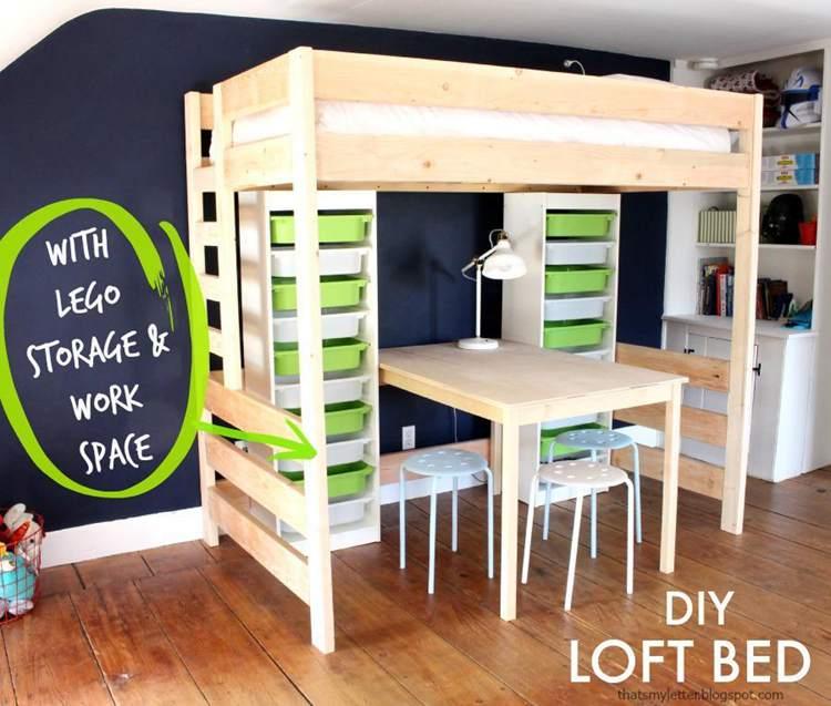 21. DIY Lego Loft Bed Plans