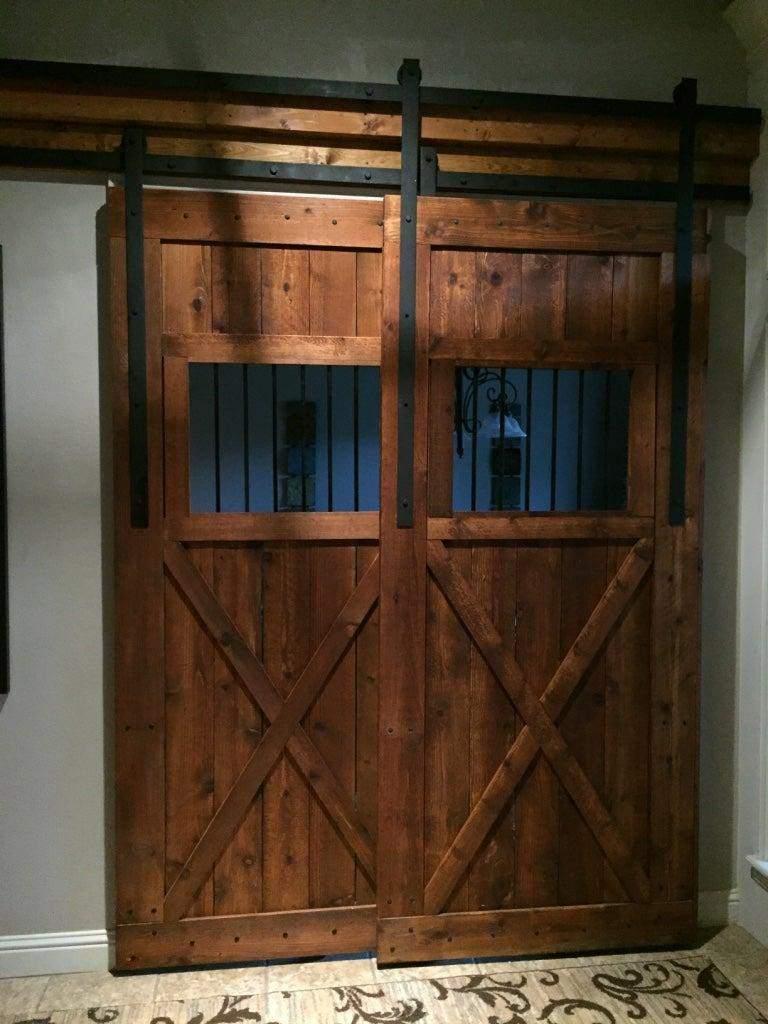 21. DIY Overlapping Tandem Barn Doors