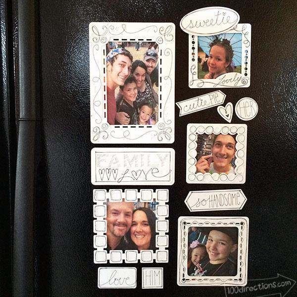 22. DIY Fridge Photo Frames