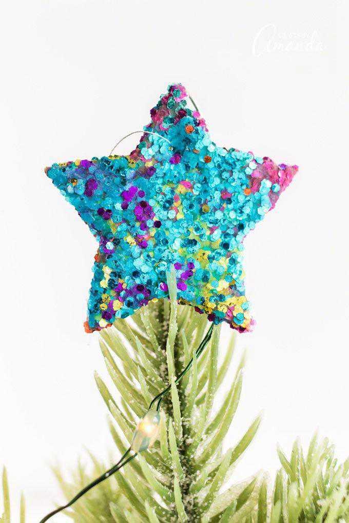 22. DIY Glitter Star Ornament