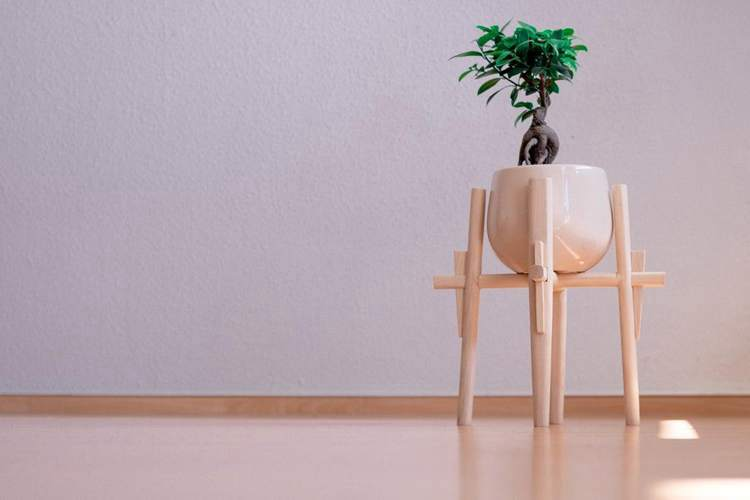 22. DIY Japanese Plant Stand