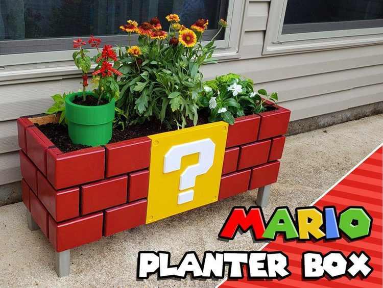 22. DIY Mario Planter Box