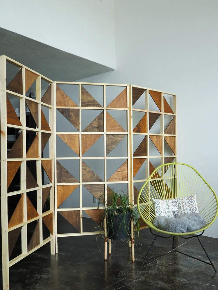 22. How To Make A Geometric Room Divider