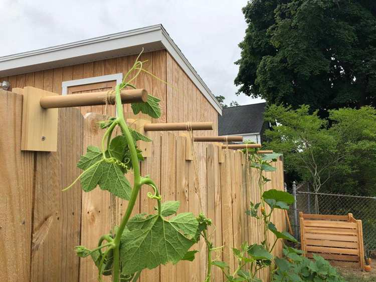 23. DIY Fence Trellis Brackets