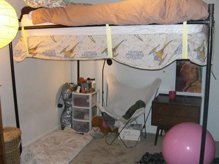 23. DIY Pipe Loft Bed
