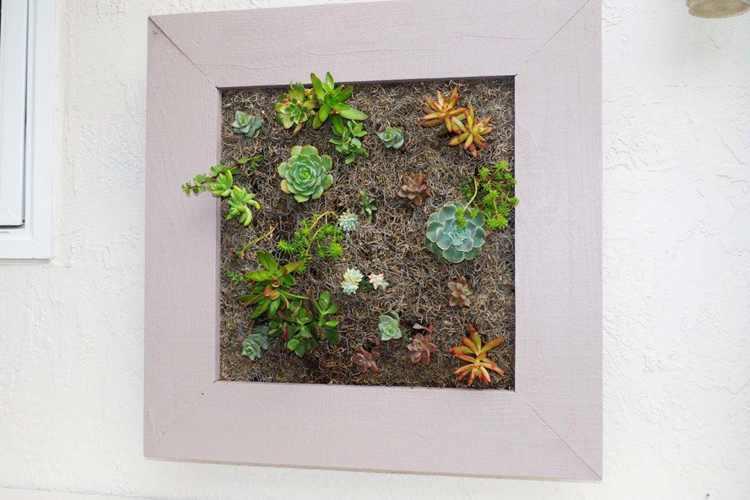 23. DIY Vertical Planter Box