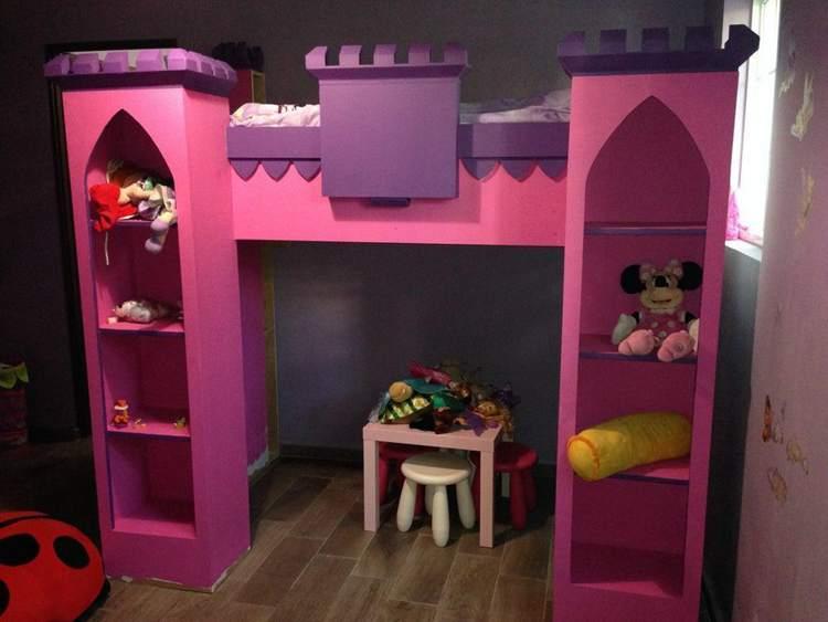 24. DIY Castle Loft Bed