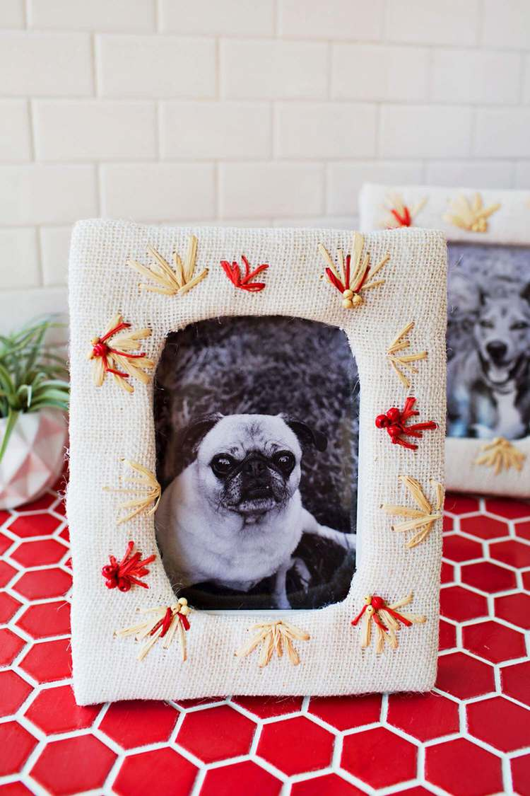 24. DIY Embroidered Photo Frame