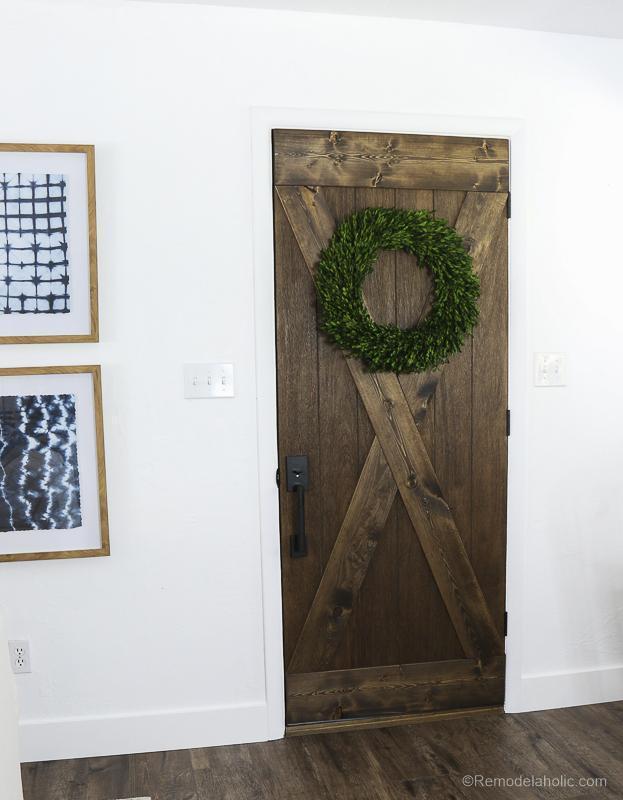 24. DIY Farmhouse Style Barn Wood Door