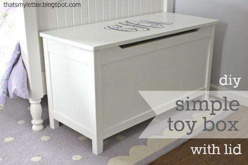 24. DIY Simple Toy Box With Lid