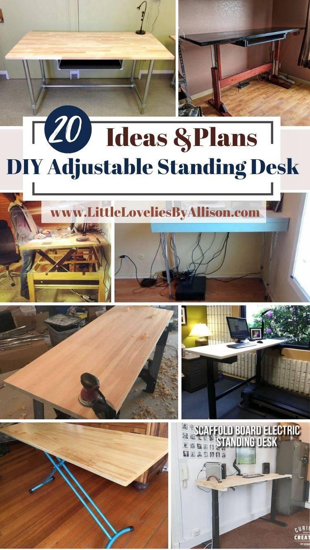 20 DIY Adjustable Standing Desk Projects_ DIY Made Easy