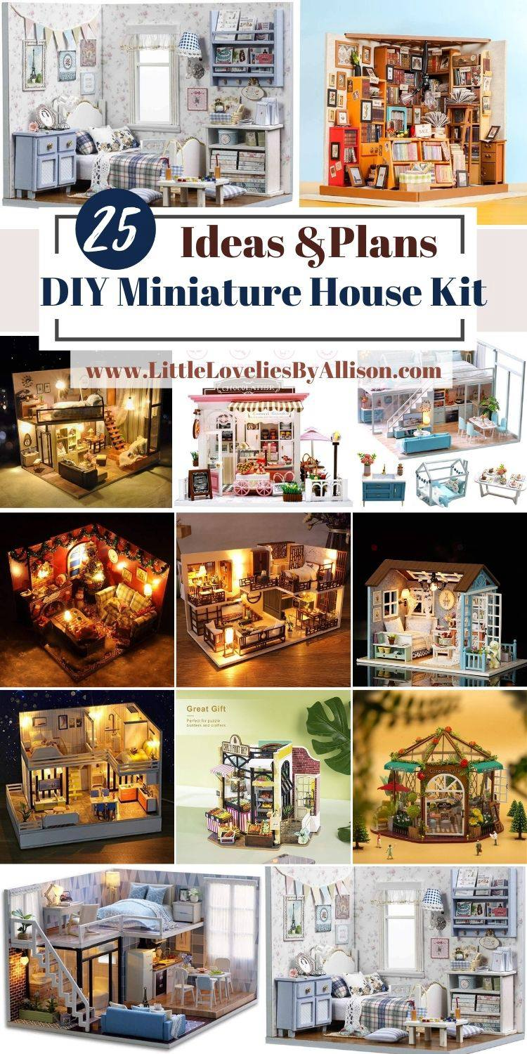25 DIY Miniature House Kit To Buy For Yourself Or The Kids