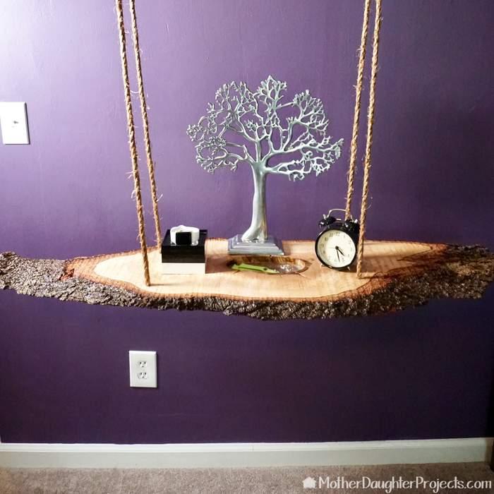 25. DIY Hanging Table Nightstand