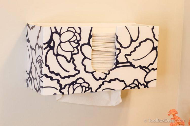 25. DIY Paper Towel Dispenser