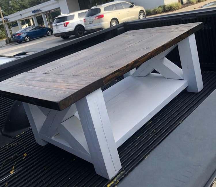 26. DIY Rustic Farmhouse Coffee Table