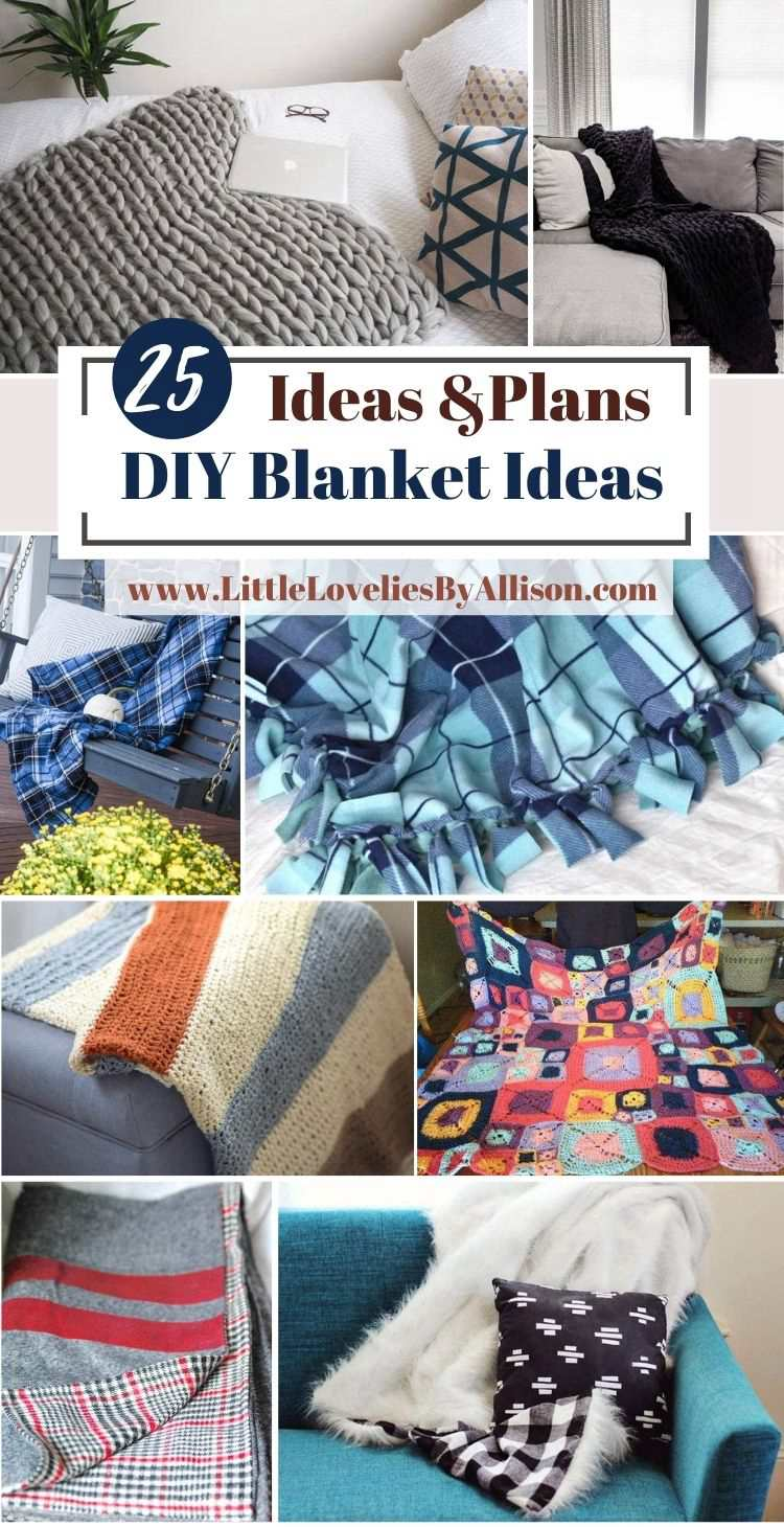 28. 25 DIY Blanket Ideas_ How To Make A Homemade Blanket