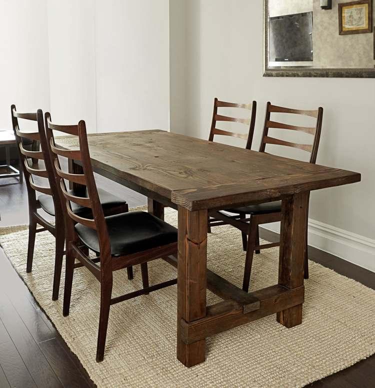 28. DIY Rustic Farmhouse Table