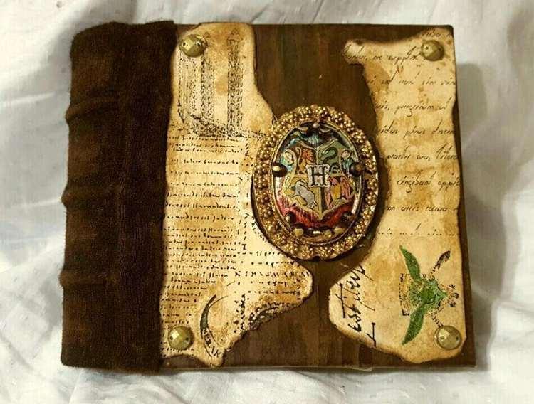 28. DIY Vintage Hogwarts Journal
