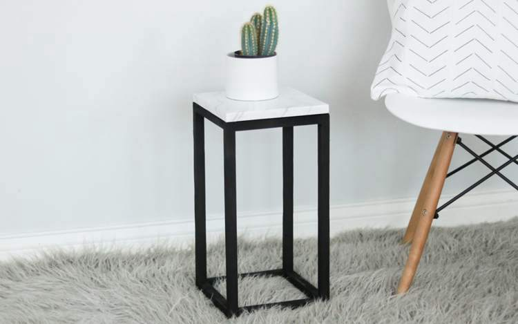 29. DIY Modern Marble Plant Stand