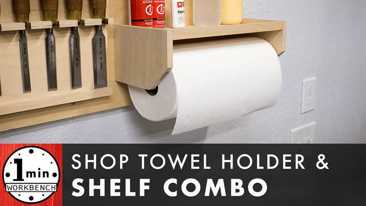 3. Paper Towel Holder With Shelf