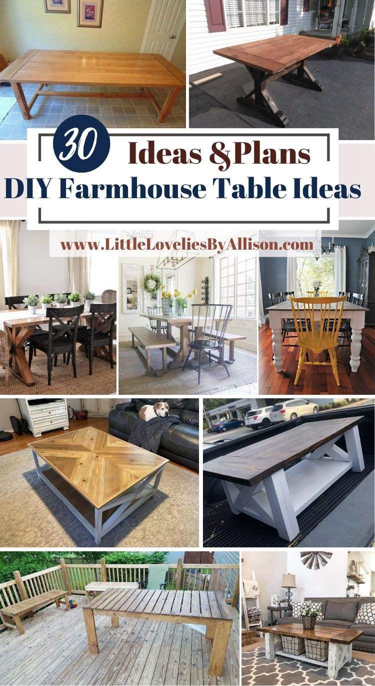 30 DIY Farmhouse Table Ideas- How To Build A Farmhouse Table