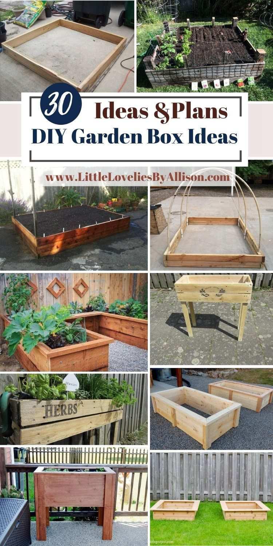30 DIY Garden Box Ideas That You Can Make In A Jiffy