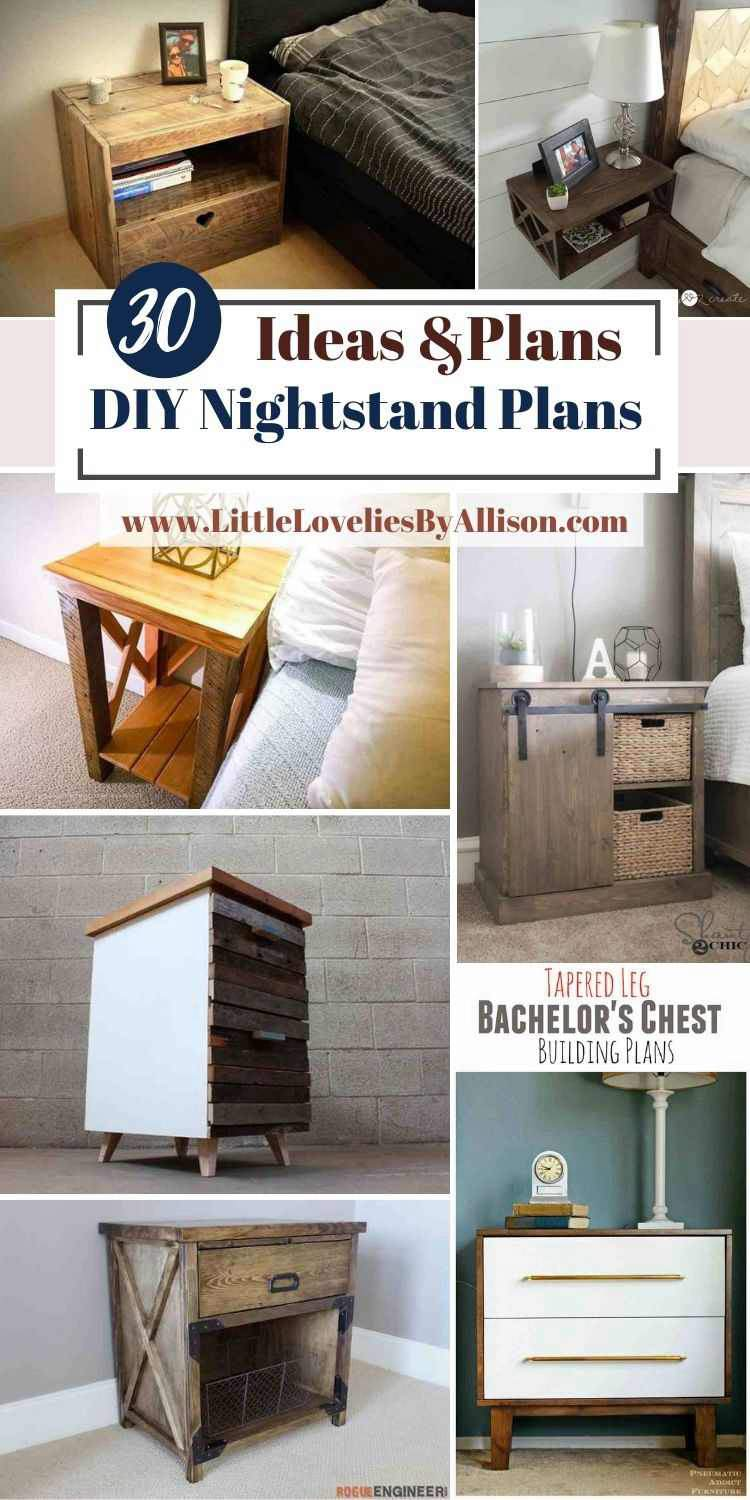 30 DIY Nightstand Plans_ How To Build A Nightstand