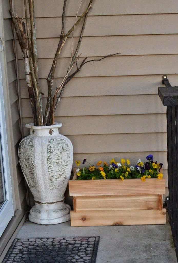 30. DIY Cedar Planter Box