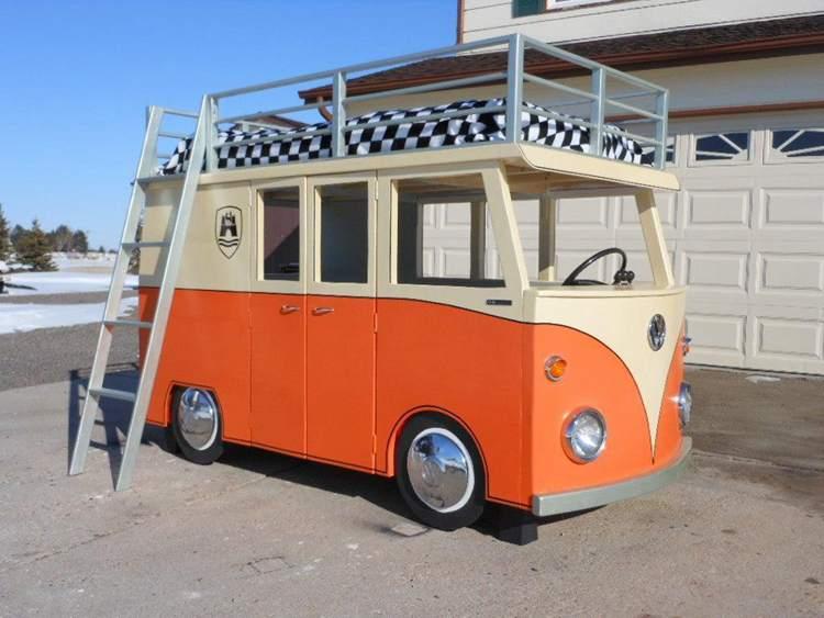30. DIY Micro Bus Bunk Bed