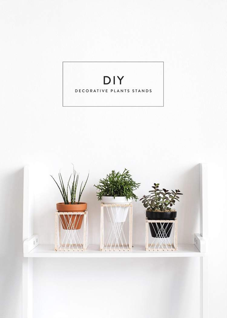 30. DIY Plant Stand Thrones