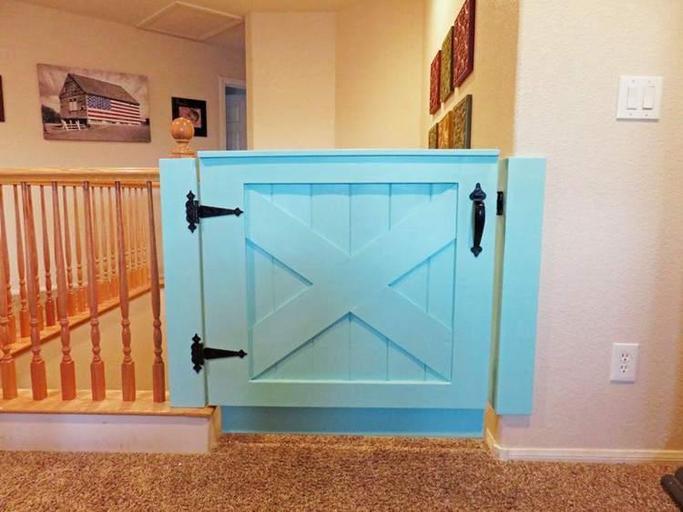 31. DIY Barn Door Baby Gate