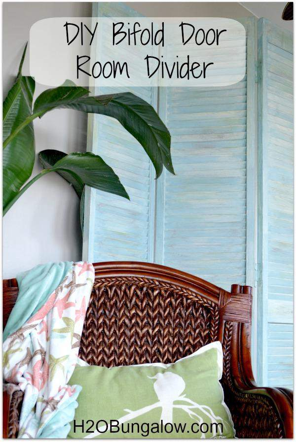 31. DIY Bi-Fold Room Divider