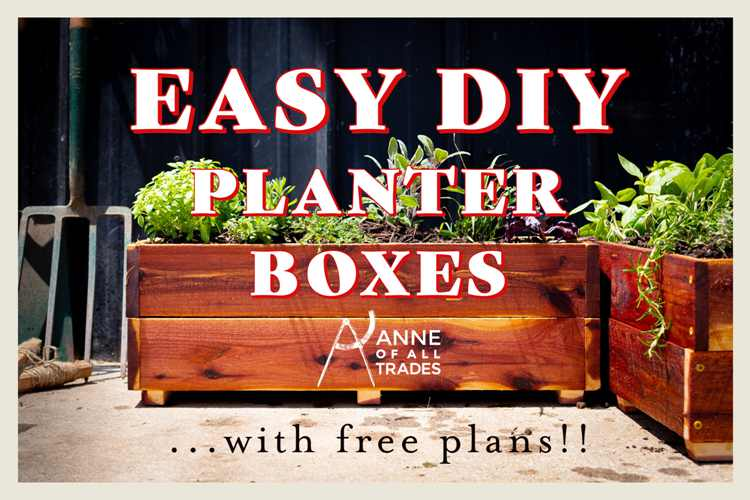 31. DIY Planter Box With Plans