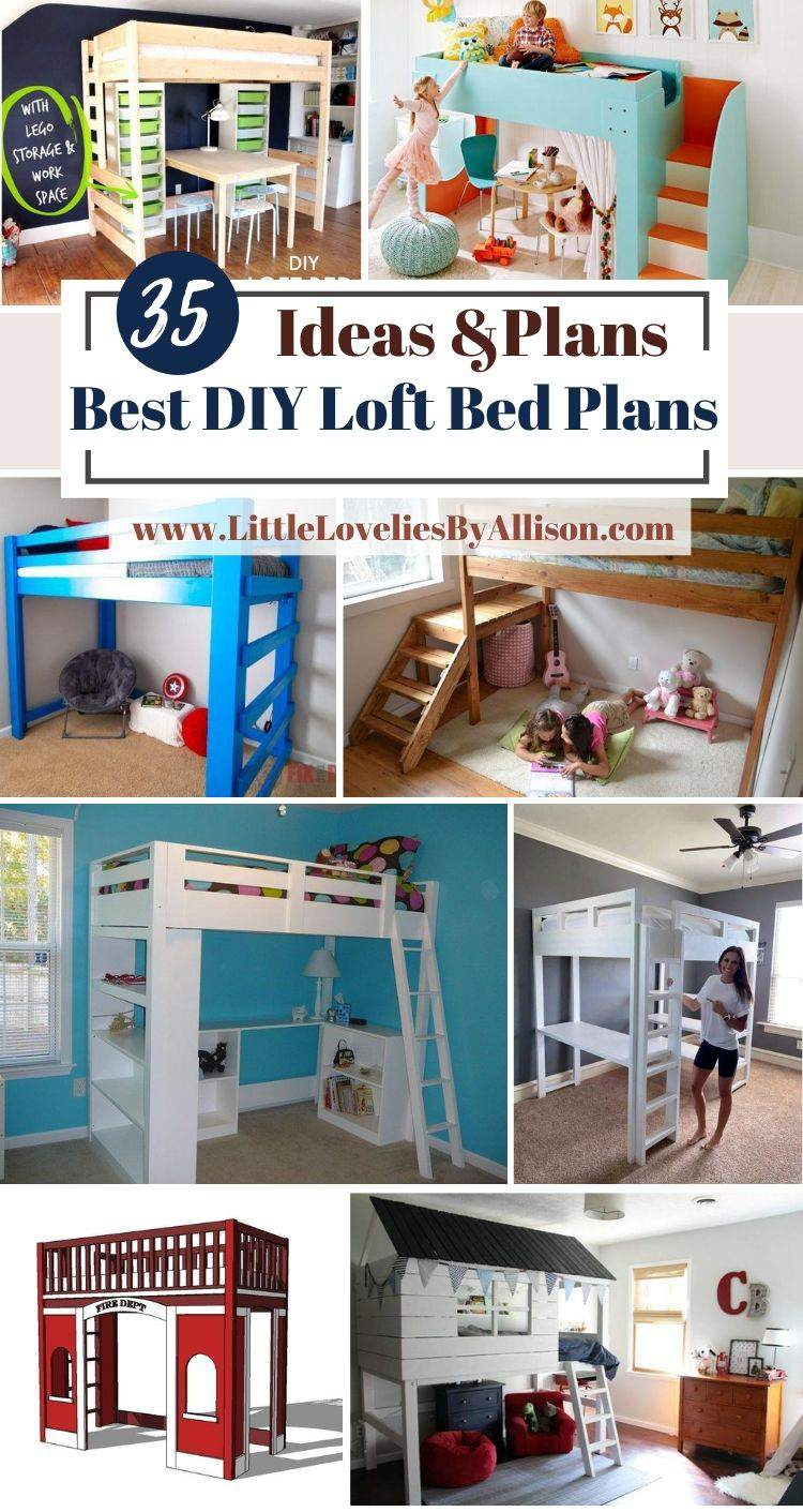 35 Best DIY Loft Bed Plans For Adults And Kids