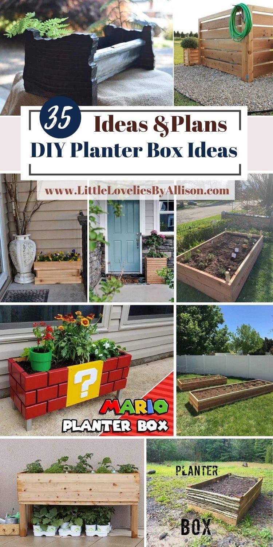 35 DIY Planter Box Ideas 2021_ Do It Yourself Easily