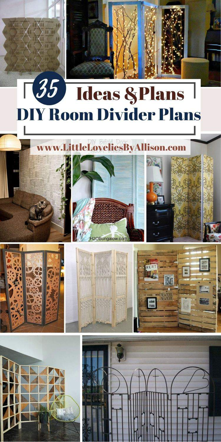35 DIY Room Divider Plans For Modern, Rustic And Classic Rooms