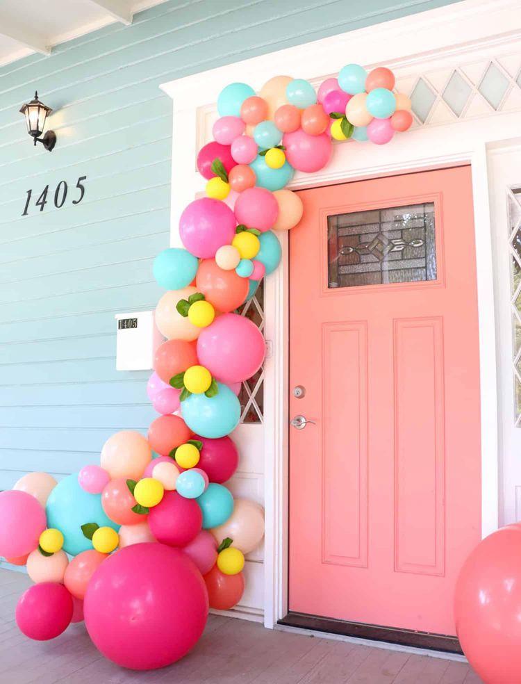 4. DIY Balloon Garland For Your Front Door