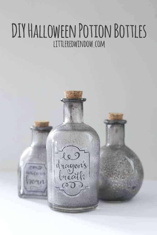 4. DIY Spooky Halloween Potion Bottles