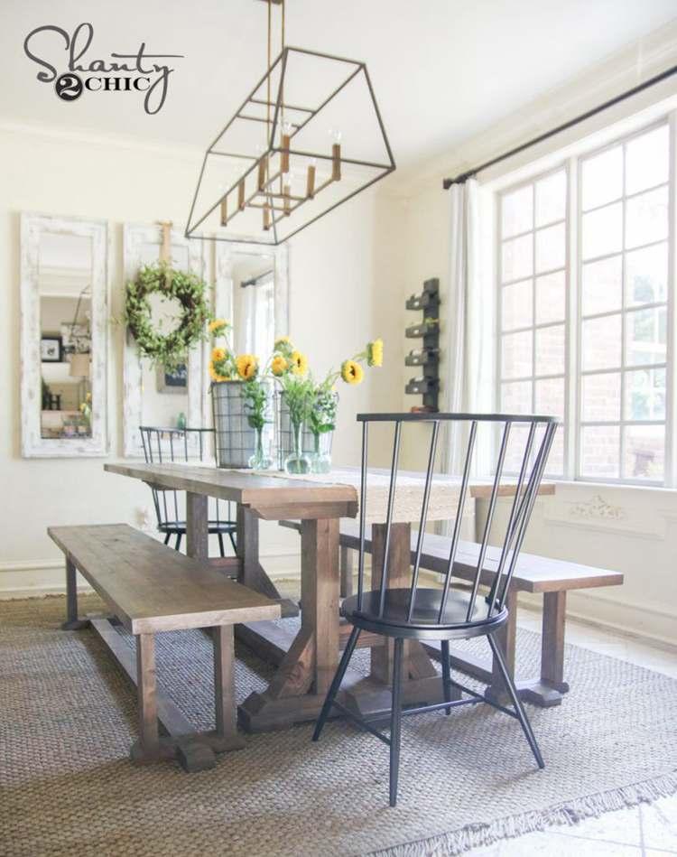 4. Pottery Barn Inspired Table DIY