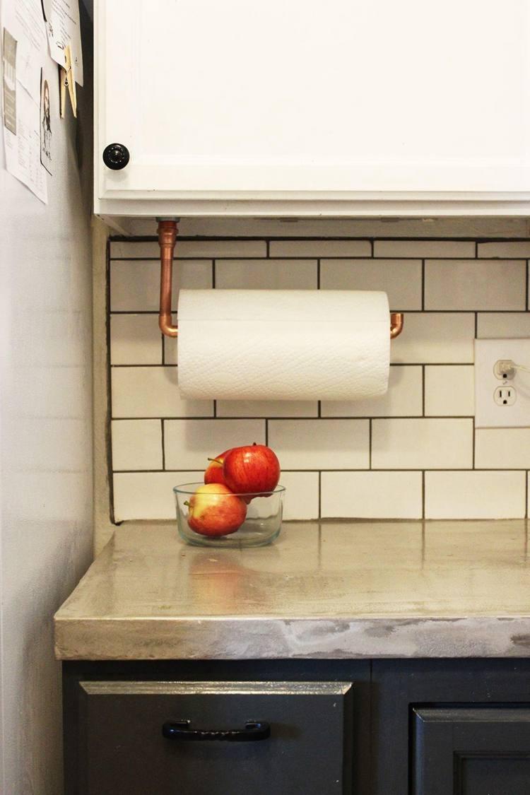 4. Under Cabinet Paper Towel Holder DIY