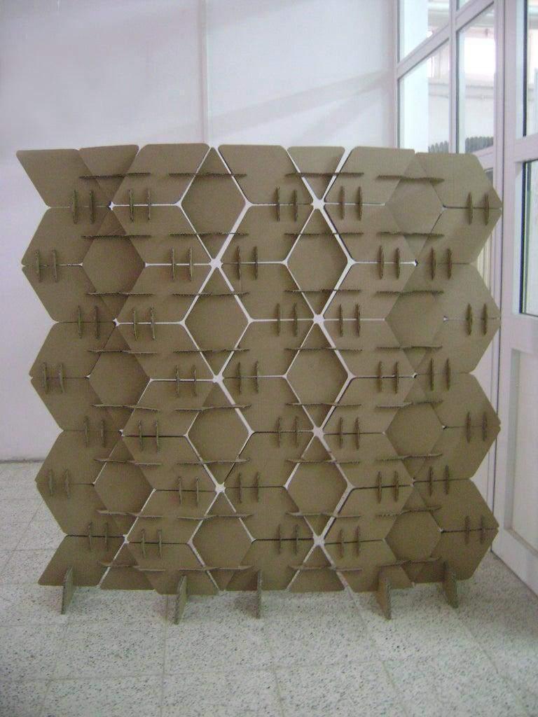 5. DIY Cardboard Room Divider