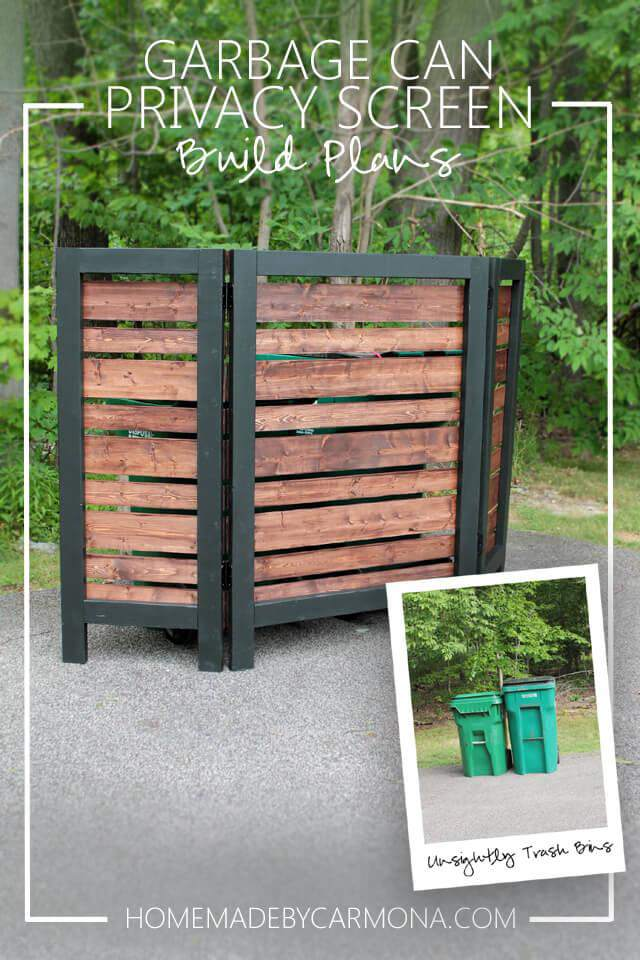 5. DIY Garbage Can Privacy Screen