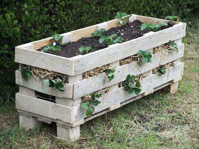 5. DIY Pallet Strawberry Planter