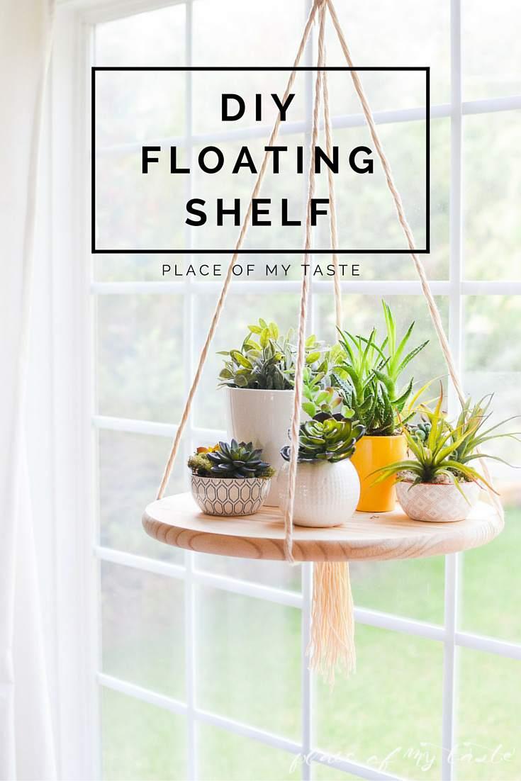 6. DIY Floating Plant Shelf