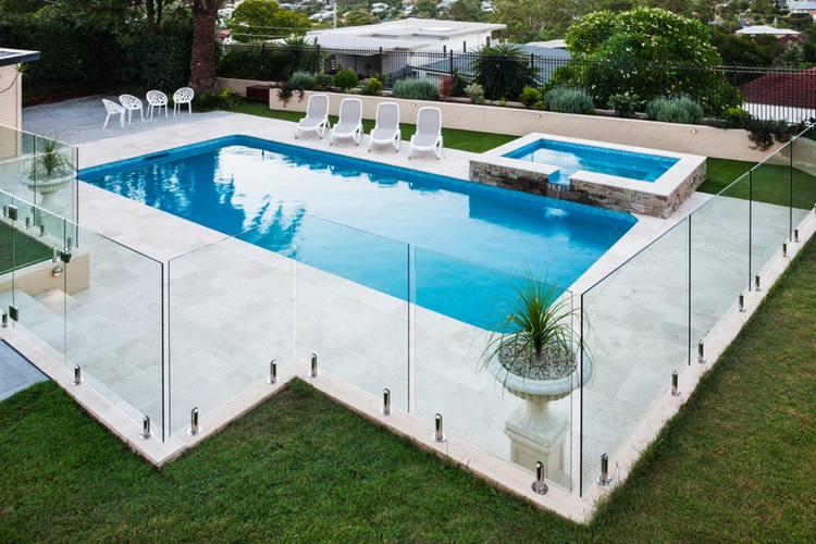 6. DIY Glass Pool Fence