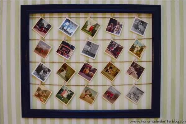 6. DIY Photo Wall Display